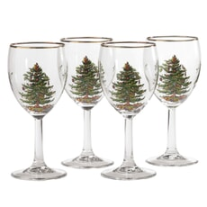 Spode Christmas Tree - Wine Glass Set Of 4