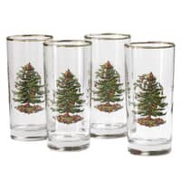 Spode Christmas Tree - Hi-ball Glass Set Of 4
