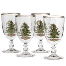 Spode Christmas Tree - Goblet Set Of 4