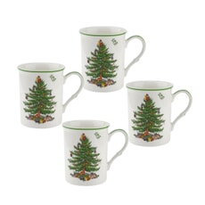 Spode Christmas Tree - Set Of 4 Mugs
