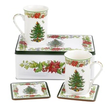 Spode Christmas Tree - Poinsettia 5 Piece Set