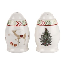Spode Christmas Jubilee Salt And Pepper Pots