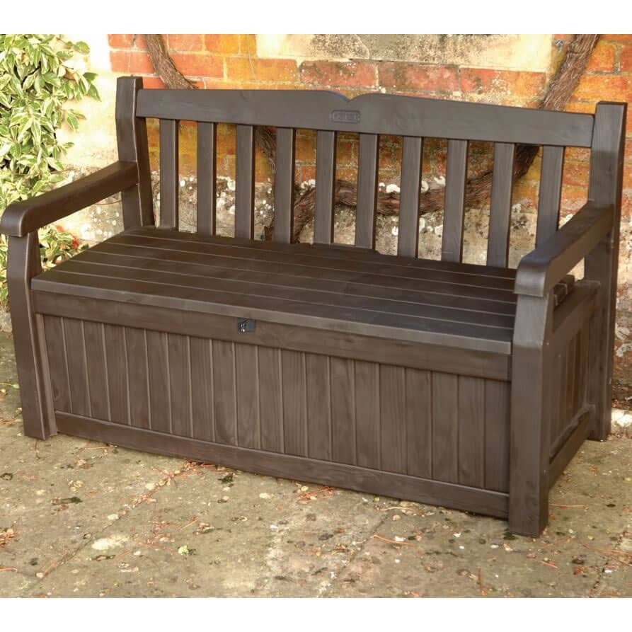 Iceni Storage Bench Brown 17190198 Garden Furniture