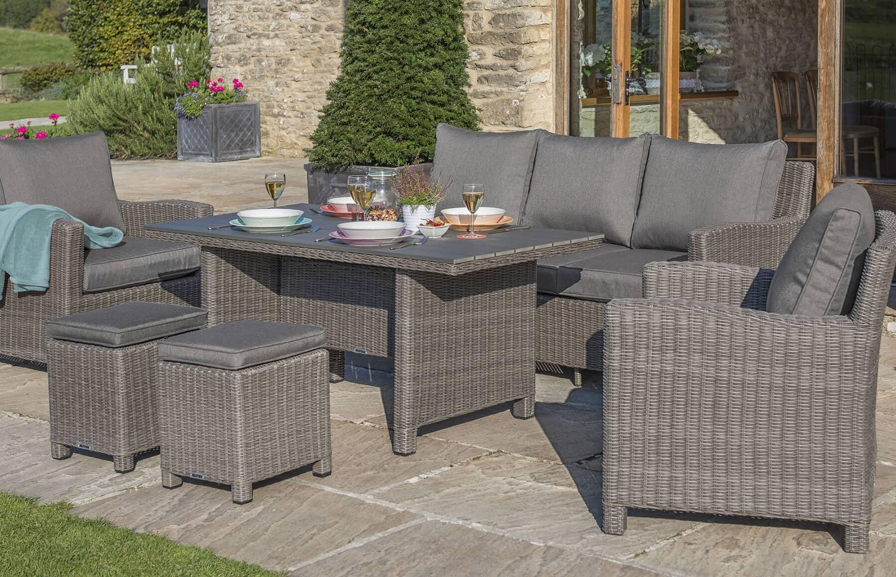 kettler palma casual dining set rattan kpalcas01 garden furniture world. Black Bedroom Furniture Sets. Home Design Ideas