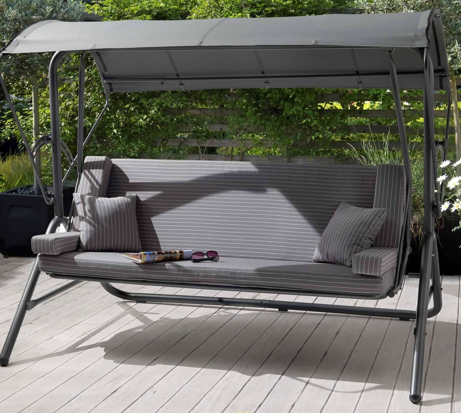 Kettler Novero Daybed Swing With Slate Cushions Z3601