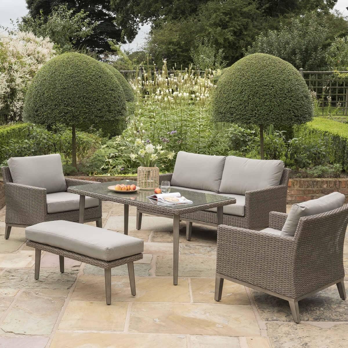 Kettler Merida Sofa Set - (0194411-4009C) - Garden ...