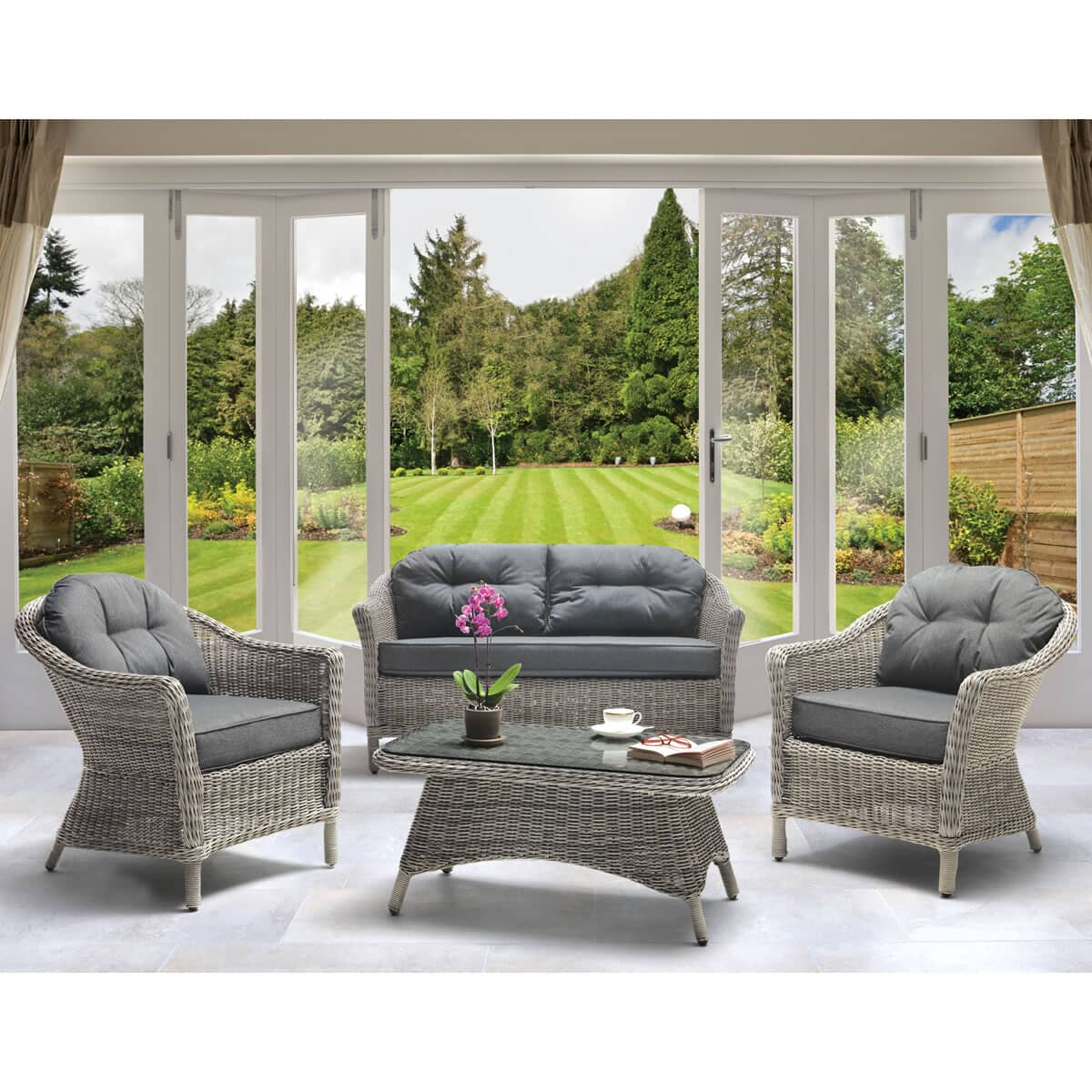 kettler loire lounge set 03053305410c garden furniture world. Black Bedroom Furniture Sets. Home Design Ideas