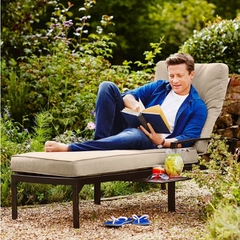 Hartman Jamie Oliver Contemporary Lounger Bronze With Biscuit Cushion