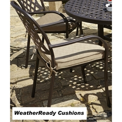 Hartman Berkeley Armchair Frame Bronze With WeatherReady Dune Cushion