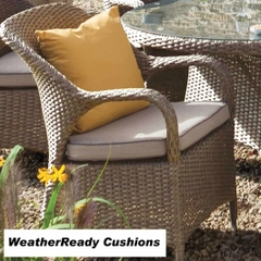 Hartman Kingsbury Dining Chair With Weatherready Cushion Bark/Sand
