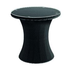 Monte Carlo Bistro Table (w/Glass) Black (2.5mm)