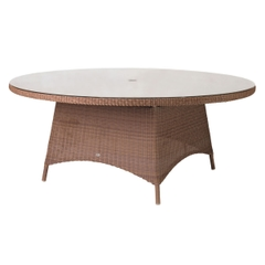 Alexander Rose San Marino Table With Glass 1.8M