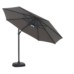 Kettler 3.5m Free Arm Parasol inc LED Lights - Taupe