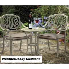 Hartman Amalfi Bistro Set Weatherready Cushions Maize/Taupe