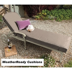 Hartman Amalfi Lounger Weatherready Cushion Maize/Taupe