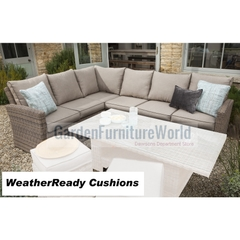 Hartman Madison/Appleton Rectangular Casual Dining Corner Sofa Weatherready Cushions Bark/Sand