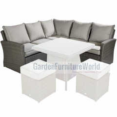 Hartman Madison/Appleton Square Casual Corner Sofa Weatherready Cushions Slate/Stone