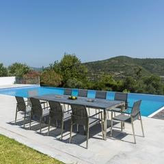 Alexander Rose Cologne 10 Seat Set with Extending Ceramic Table 200cm/320cm x 100cm