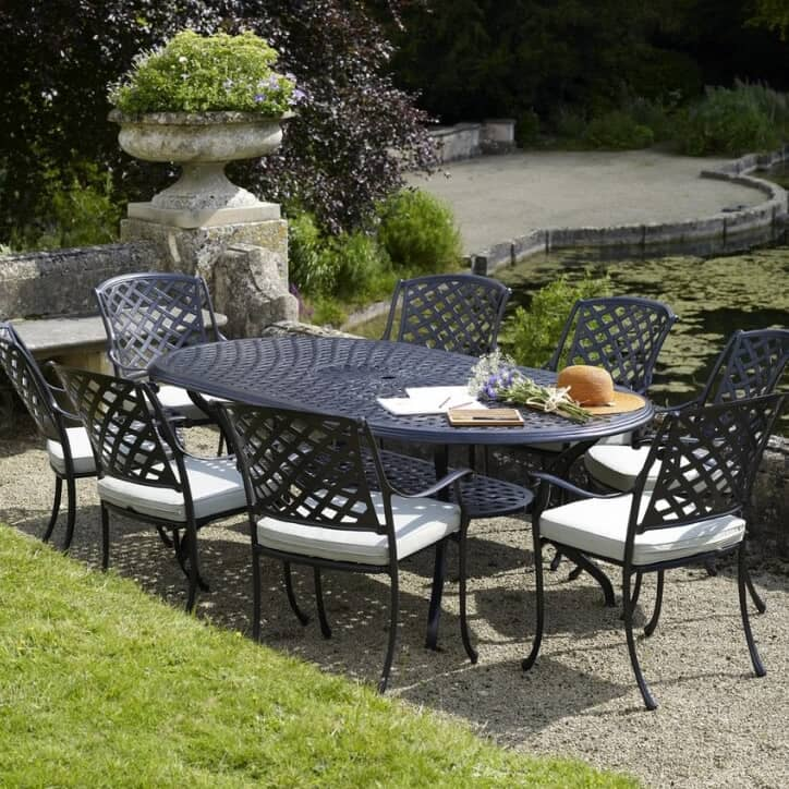 bramblecrest ancona oval 6 seat set banoset01 garden. Black Bedroom Furniture Sets. Home Design Ideas