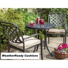 Hartman Berkeley Bistro Set Weatherready Cushions Bronze/Dune
