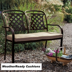 Hartman Berkeley Bench Weatherready Cushion Bronze/Dune