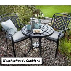 Hartman Berkeley Bistro Set Weatherready Cushions Midnight/Shadow