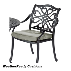 Hartman Capri Armchair Bronze Weatherready Cushion Wheatgrass
