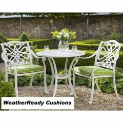 Hartman Capri Zest Bistro Set Weatherready Cushions Royal White/Lime