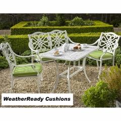 Hartman Capri Zest Coffee Set Weatherready Cushions Royal White/Lime