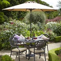 Hartman Amalfi 4 Seat Garden Furniture Set in Bronze