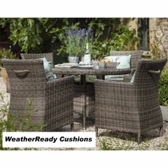 Hartman Bali 4 Seat Set - Driftwood/WeatherReady Tweed