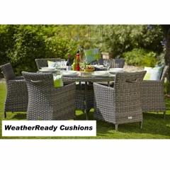 Hartman Bali 6 Seat Set - Driftwood/WeatherReady Tweed