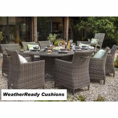 Hartman Bali Oblique 8 Seat Set - Driftwood/WeatherReady Tweed