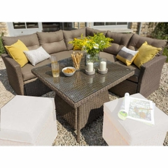Hartman Madison/Appleton Square Casual Dining Set 2017 NO STOOLS - Sepia (Brown Rattan)