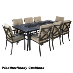 Hartman Jamie Oliver Contemporary Feastable Set Weatherready Cushions Bronze/Biscuit