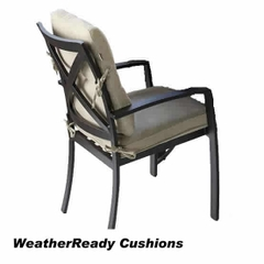 Hartman Jamie Oliver Contemporary Dining Chair Weather Ready Cushions Bronze/Biscuit
