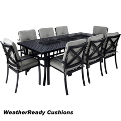 Hartman Jamie Oliver Contemporary Feastable Set Weatherready Cushions Riven/Pewter