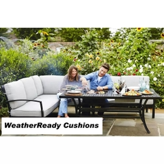 Hartman Jamie Oliver Contemporary Cosy Corner Set Weatherready Cushion Riven/Pewter