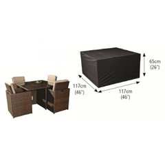 Bosmere 4 Seater Cube Set Cover Medium