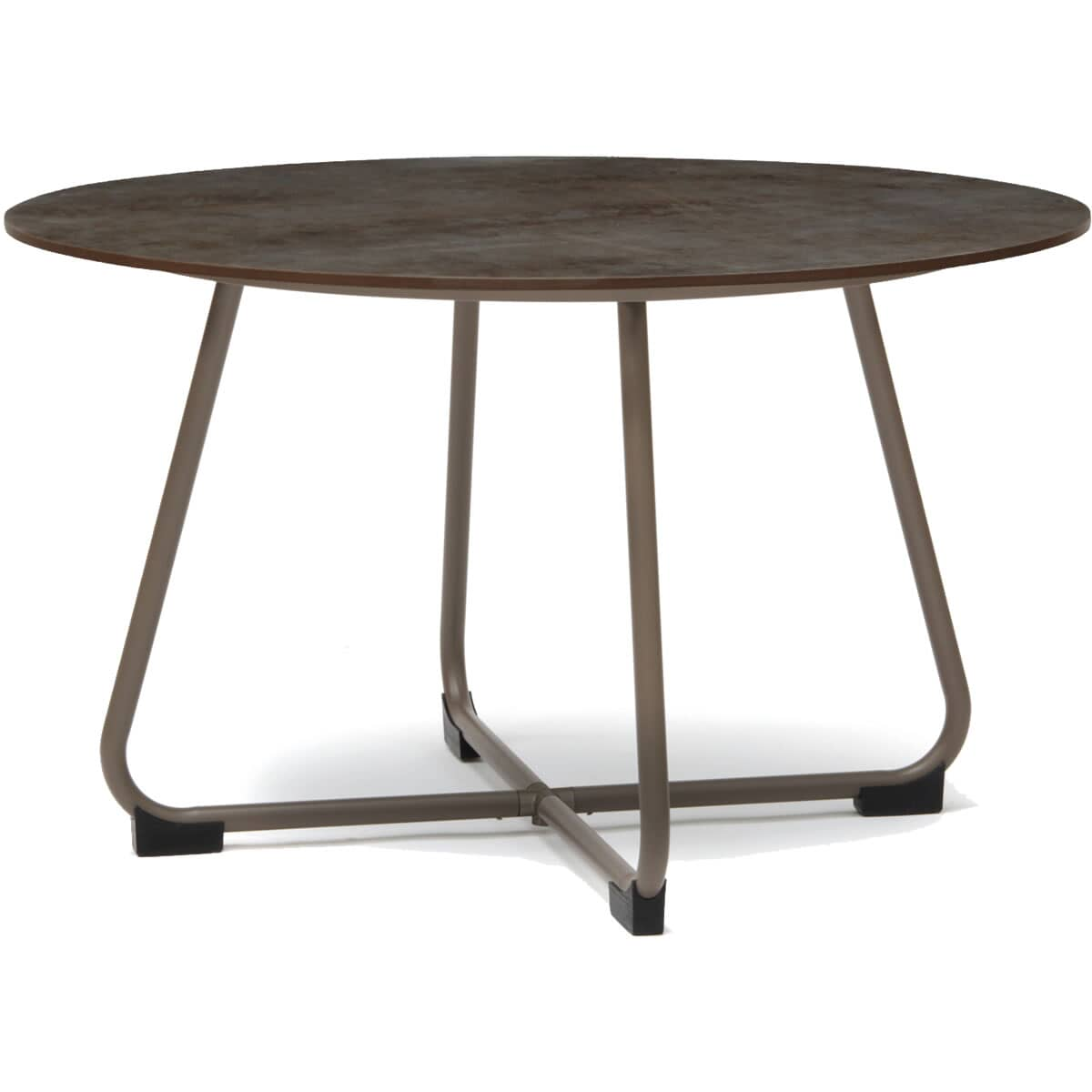Kettler manhattan 110cm round hpl table patina taupe for Table kettler