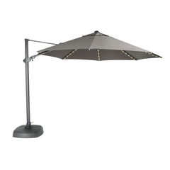 Kettler 3.5m Free Arm Parasol Grey/Taupe (LED Lights)