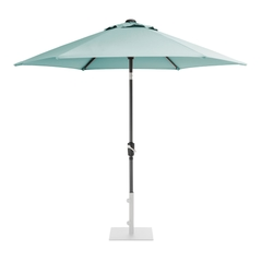 Kettler 2.5m Wind Up Parasol with tilt Grey frame and Aqua Canopy