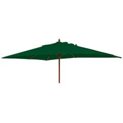 Alexander Rose 3m x 2m Rect Wooden Parasol Green