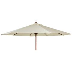 Alexander Rose 2.7m Wooden Parasol Ecru