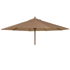 Alexander Rose 3m Wooden Parasol Taupe