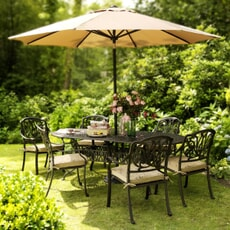 Hartman Amalfi Oval 6 Seat Garden Furniture Set in Bronze