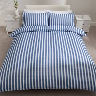 Stripe Brushed Cotton Blue