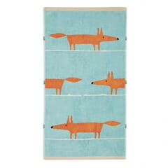 Mr Fox Towels Aqua