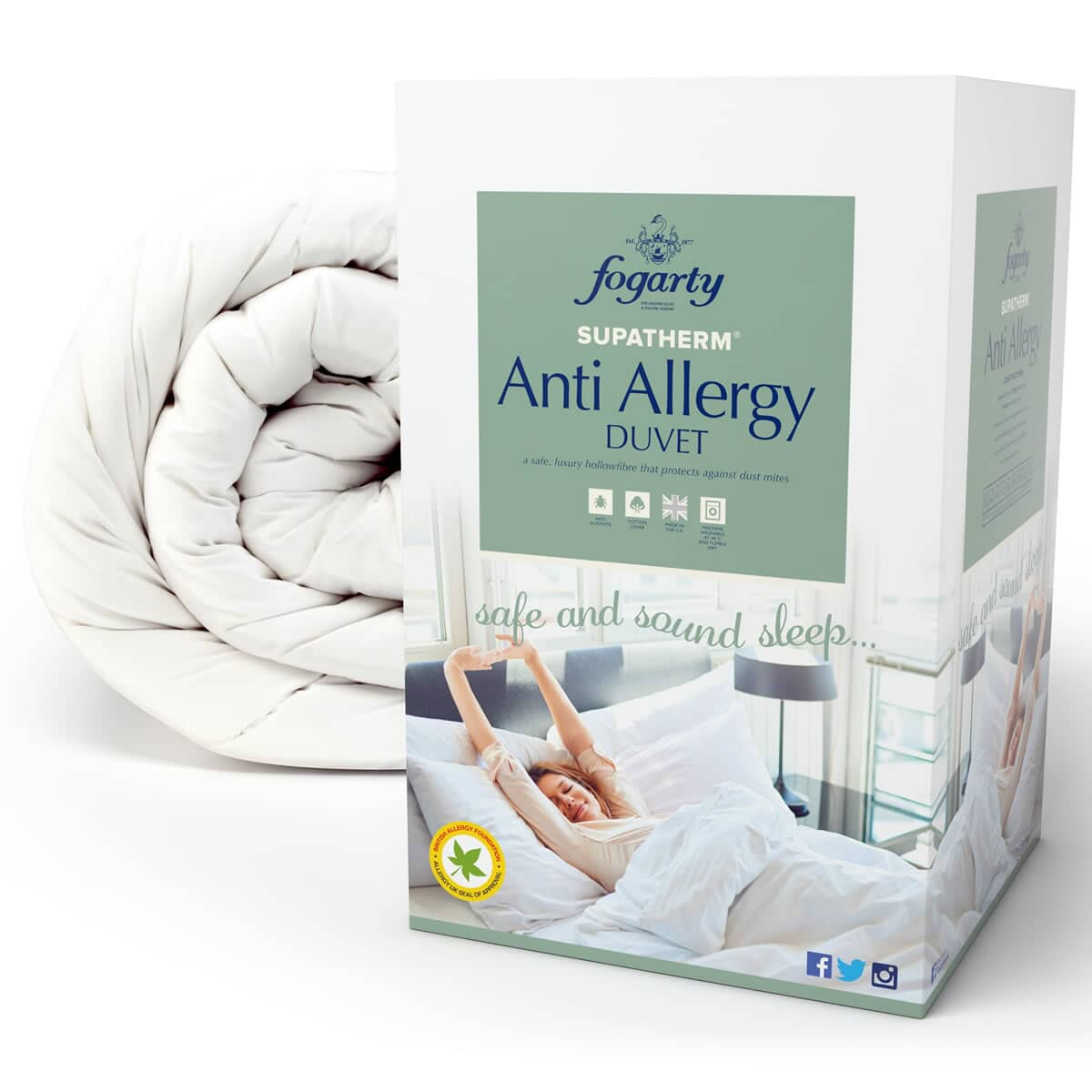 fogarty supatherm anti allergy justlinen. Black Bedroom Furniture Sets. Home Design Ideas