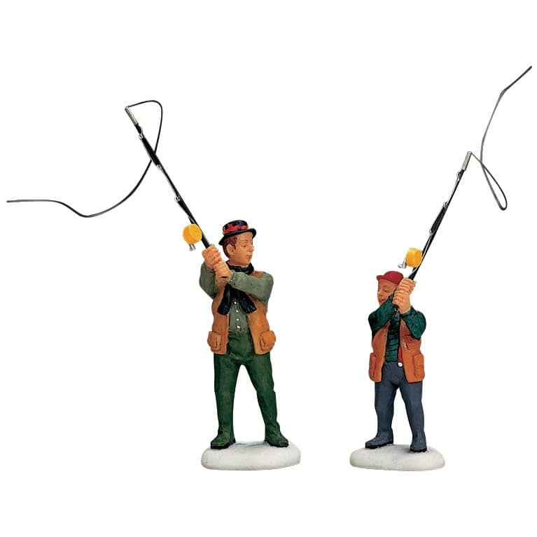 Lemax - Flyfishing With Dad Set Of 2